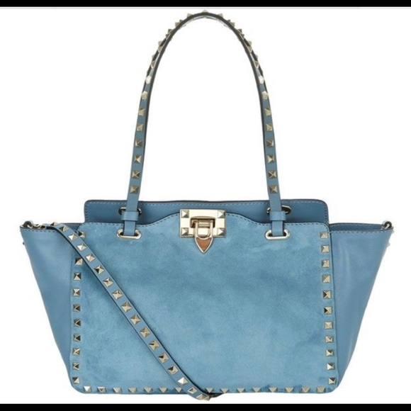 e63ec55372 Valentino Bags | Suede Leather Rockstud Tote Large | Poshmark